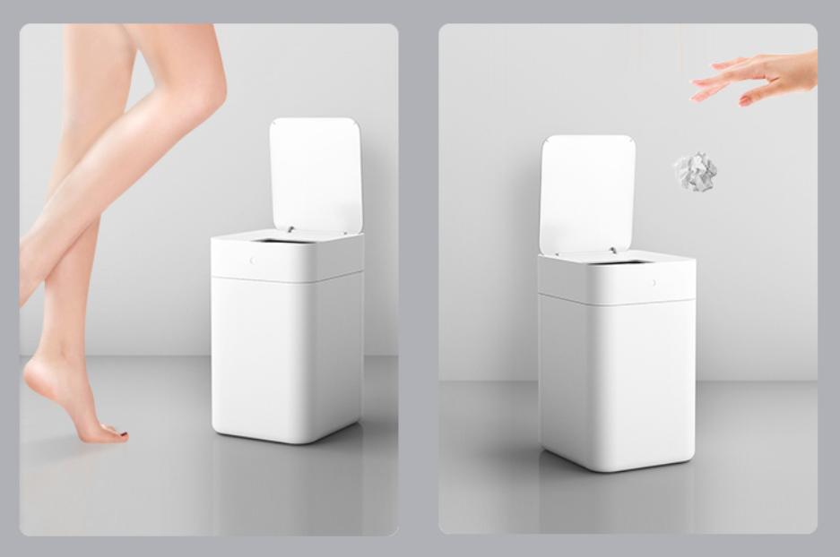 黑科技智能垃圾桶,挥挥手就能扔垃圾