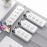 独立开关插座排插智能usb充电插板多孔大功率接线板家用拖线板学生宿舍安全卡通创意插线板单控多功能插排
