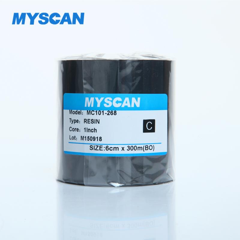进口增强型全树脂碳带110mm 300m条码打印机标签机PET标签11cm