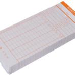 爱宝考勤卡卡纸上班打卡机加厚白通用双面微电脑钟卡片新蜜卡式手写打印办公用出勤卡