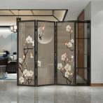 福维尼 现代简约屏风隔断客厅卧室玄关入户折叠遮挡收纳置物实木定制折屏 一组尺寸210*200CM
