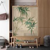 新中式屏风隔断客厅玄关实木现代简约卧室遮挡家用办公室可移动