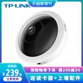 TPLINK无线摄像头wifi监控器家用手机360度全景鱼眼远程高清500万