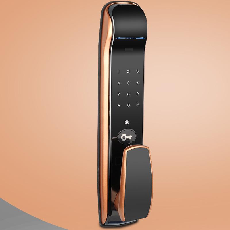 容心指纹锁推拉式密码锁家用防盗电子锁全自动智能锁室内别墅门锁