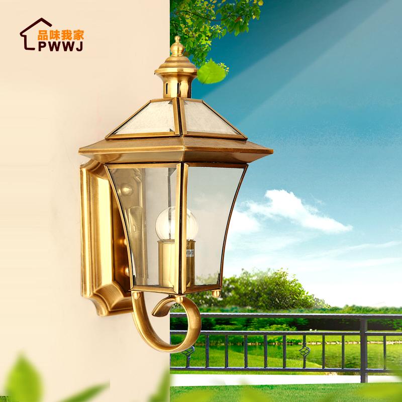 欧式全铜壁灯户外防水庭院灯室内过道灯室外墙壁灯露台灯阳台壁灯