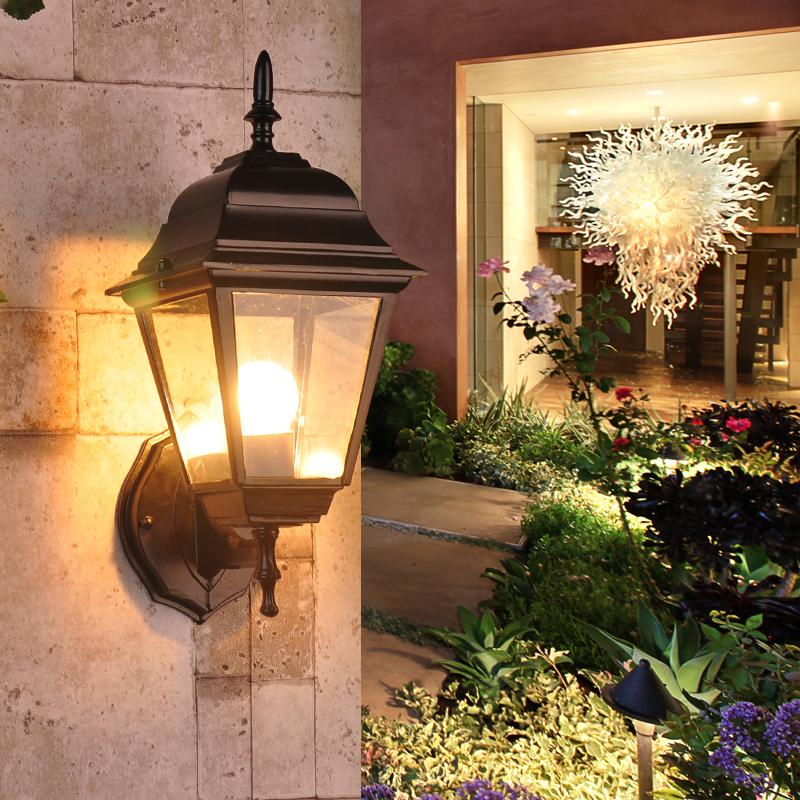 欧式壁灯户外防水庭院灯过道灯单头室外墙壁灯双头露台阳台壁灯