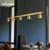 Savia吊灯北欧简约创意工业风设计餐厅客厅吧台LED全铜5头吊灯具