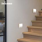 西维亚 感应灯家用过道LED玄关楼梯墙脚灯卧室86底盒感应小夜灯