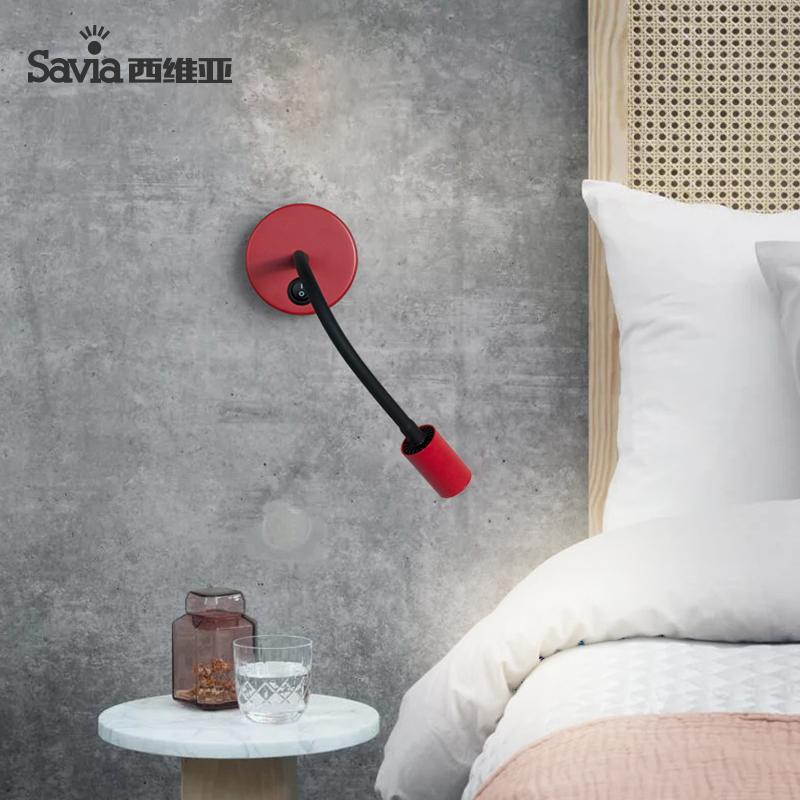 savia阅读灯led客厅书房卧室床头壁灯简约阅读灯可调角度照画壁灯