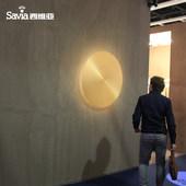 西维亚壁灯北欧简约创意个性客厅全铜壁灯背景墙餐厅房间卧室灯具