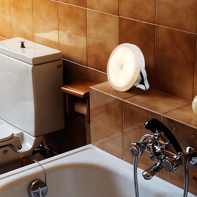 无线人体感应不插电充电小夜灯磁铁夜间老人卫生间楼梯起夜免布线