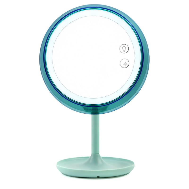 联创多功能台灯LED化妆镜子带灯智能调光补光美妆灯台式桌面充电